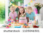kids birthday party. children... | Shutterstock . vector #1105046501