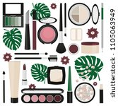 set of makeup products with... | Shutterstock .eps vector #1105063949