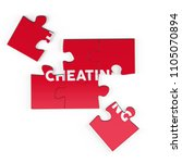 realistic red six pieces of...   Shutterstock . vector #1105070894