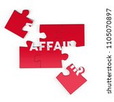 realistic red six pieces of...   Shutterstock . vector #1105070897