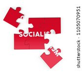 realistic red six pieces of...   Shutterstock . vector #1105070951