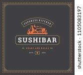 sushi restaurant logo design... | Shutterstock .eps vector #1105083197