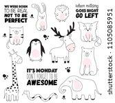 vector cartoon sketch... | Shutterstock .eps vector #1105085951