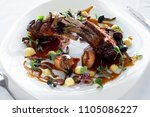 meat of lamb with bone...   Shutterstock . vector #1105086227