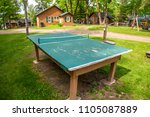 outdoor ping pong table tennis... | Shutterstock . vector #1105087889