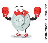 cartoon car brake mascot in red ... | Shutterstock .eps vector #1105088945