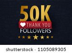 50k followers illustration with ... | Shutterstock .eps vector #1105089305