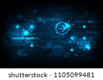 technology background in the... | Shutterstock .eps vector #1105099481