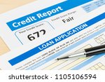 loan application form fair... | Shutterstock . vector #1105106594