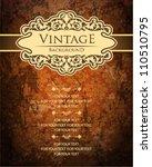 vintage ornate card design for...   Shutterstock .eps vector #110510795