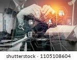 compliance virtual diagram for... | Shutterstock . vector #1105108604