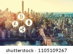 cryptocurrency with the new... | Shutterstock . vector #1105109267