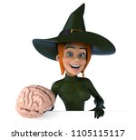 sexy witch   3d illustration   Shutterstock . vector #1105115117