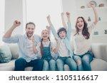 positive cheerful crazy... | Shutterstock . vector #1105116617