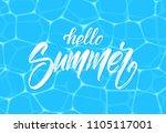 vector illustration  brush type ... | Shutterstock .eps vector #1105117001