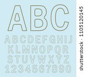 stitched english alphabet ... | Shutterstock .eps vector #1105120145