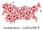 football ussr map. vector... | Shutterstock .eps vector #1105125875