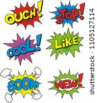 colorful speech bubble set on... | Shutterstock .eps vector #1105127114