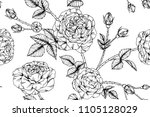 seamless flower pattern... | Shutterstock .eps vector #1105128029