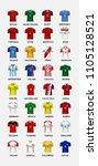 mock up of soccer jersey t...   Shutterstock .eps vector #1105128521
