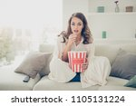 portrait of pretty  charming ... | Shutterstock . vector #1105131224