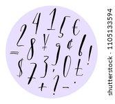 pen lettering numbers ... | Shutterstock .eps vector #1105133594