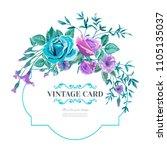 vector floral background... | Shutterstock .eps vector #1105135037