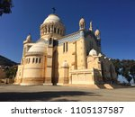 Stock photo notre dame d afrique basilica algiers algeria march our lady of africa 1105137587