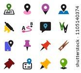 solid vector ixon set  ... | Shutterstock .eps vector #1105140374