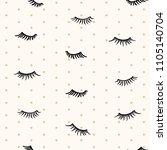 drawn different cartoon black...   Shutterstock .eps vector #1105140704