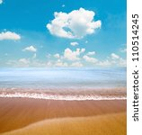 Tropical sea and beach - stock photo