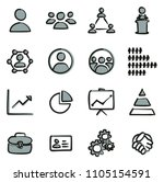 human resources icons freehand... | Shutterstock .eps vector #1105154591