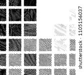 grunge halftone black and white ... | Shutterstock . vector #1105156037