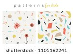 soft colored lovely patterns... | Shutterstock .eps vector #1105162241