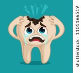 sick decayed tooth    Shutterstock .eps vector #1105166519
