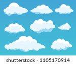 vector illustration of clouds... | Shutterstock .eps vector #1105170914