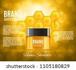cosmetic ads design. jar of...   Shutterstock .eps vector #1105180829