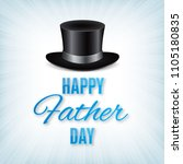 black hat with text happy...   Shutterstock .eps vector #1105180835