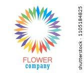 colorful flower logo  symbol ... | Shutterstock .eps vector #1105184825