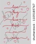 typography hand drawn slogan ...   Shutterstock .eps vector #1105185767