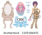 fashion style vector... | Shutterstock .eps vector #1105186451