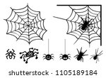 happy halloween party sketch... | Shutterstock .eps vector #1105189184
