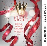 ladies night party invitation... | Shutterstock .eps vector #1105193294