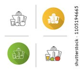 juicer icon. juicing machine.... | Shutterstock .eps vector #1105194665