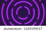 vector neon violet lighting... | Shutterstock .eps vector #1105195517