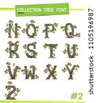 tree font  isolated on white... | Shutterstock .eps vector #1105196987