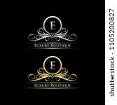 letter e luxury boutique silver ... | Shutterstock .eps vector #1105200827
