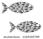 fish pair vector composition....   Shutterstock .eps vector #1105205789