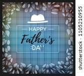 happy father's day greeting... | Shutterstock .eps vector #1105210955