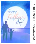 happy father's day greeting... | Shutterstock .eps vector #1105211879
